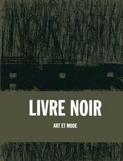 Livre Noir Art Et Mode - Intérieur - Format classique