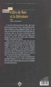 Gilles de Rais et la littérature - 4ème de couverture - Format classique