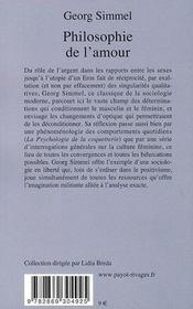Philosophie De L'Amour - Rp N 55 - 4ème de couverture - Format classique