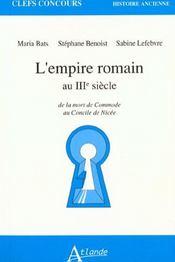 L'Empire Romain Au 3e S. - Intérieur - Format classique