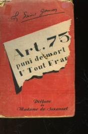 Article 75 - Couverture - Format classique