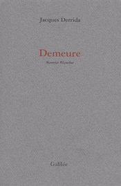 Demeure - Couverture - Format classique