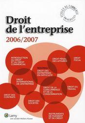 Droit de l'entreprise 2006-2007 - Intérieur - Format classique