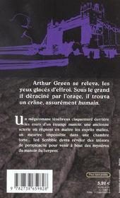 Le Manoir Du Serpent - 4ème de couverture - Format classique