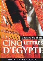 Cinq lettres d'Egypte - Intérieur - Format classique