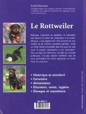 Le rottweiler - 4ème de couverture - Format classique