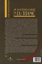 Le mystérieux bébé du titanic - 4ème de couverture - Format classique