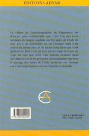 Autobiographie D'Un Yogi - 4ème de couverture - Format classique