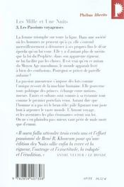 Les mille et une nuits t.3 ; les passions voyageuses - 4ème de couverture - Format classique