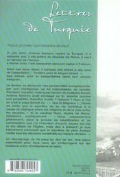 Lettres de Turquie - 4ème de couverture - Format classique