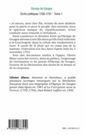 Ecrits Politiques T1 1788 1791 - Couverture - Format classique