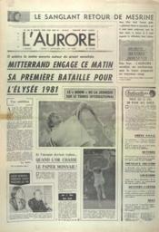 Aurore (L') N°10881 du 11/09/1979 - Couverture - Format classique