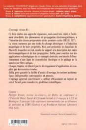 Physique Fondamentale Elements De Propagation Electromagnetique Des Fondements Theoriques Aux Appli. - 4ème de couverture - Format classique