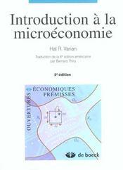Introduction A La Microeconomie (Traduction De La 6e Edition Americaine) - Intérieur - Format classique