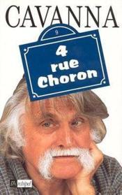 4, rue Choron - Couverture - Format classique
