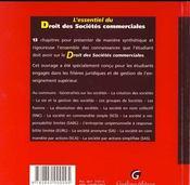 Essentiel Dt Stes Commerciales - 4ème de couverture - Format classique