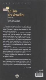 Le livre des merveilles - 4ème de couverture - Format classique