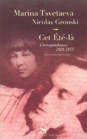 Cet Ete-La ; Correspondances, 1928-1933 - Intérieur - Format classique