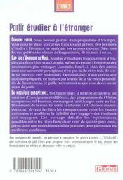 Partir Etudier A L'Etranger ; Etats-Unis, Europe, Canada (edition 2006-2007) - 4ème de couverture - Format classique