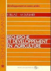 Recherche developpement agriculture - Couverture - Format classique