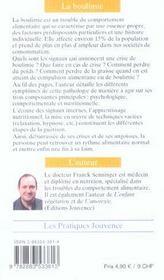 Boulimie (La) N.95 - 4ème de couverture - Format classique