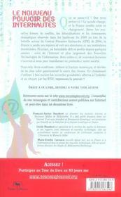 Le Nouveau Pouvoir Des Internautes - 4ème de couverture - Format classique