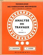 Analyse Des Travaux - Couverture - Format classique