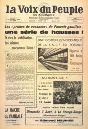 Voix Du Peuple De Touraine (La) N°1305 du 31/07/1966 - Couverture - Format classique