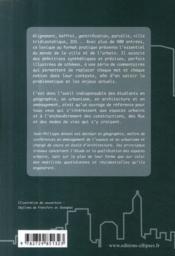 Lexique de la ville - 4ème de couverture - Format classique