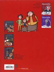 Le Journal D'Henriette T01 - 4ème de couverture - Format classique
