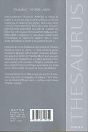 Oeuvres romanesques - 4ème de couverture - Format classique