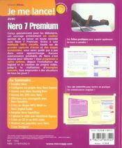 Je me lance avec nero 7 premium - 4ème de couverture - Format classique