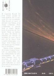 La Mecanique Du Talion - 4ème de couverture - Format classique