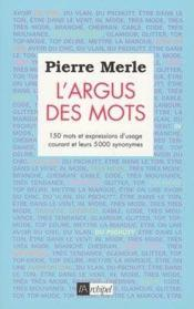 L'Argus Des Mots - Couverture - Format classique