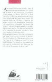 À la table de l'empereur de chine - 4ème de couverture - Format classique