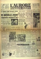 Aurore France Libre (L') N°1241 du 09/09/1948 - Couverture - Format classique