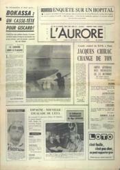 Aurore (L') N°10892 du 24/09/1979 - Couverture - Format classique