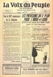 Voix Du Peuple De Touraine (La) N°1306 du 07/08/1966 - Couverture - Format classique