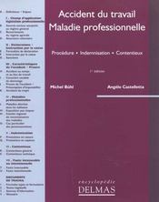 Vente  Accidents du travail ; maladies professionnelles  - Michel Buhl - Angelo Castelletta