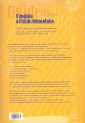 Guide pour enseigner l'anglais à l'école élémentaire - 4ème de couverture - Format classique