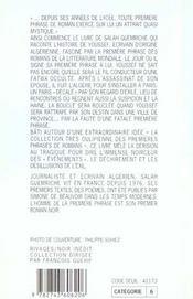 L'Homme De La Premiere Phrase - 4ème de couverture - Format classique