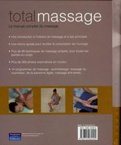 Total massage - 4ème de couverture - Format classique