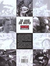 30 Ans De Moto ; 30 Ans De Journalisme A Moto Journal - 4ème de couverture - Format classique