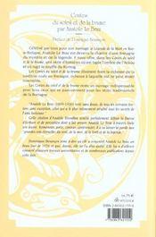 Contes Du Soleil Et De La Brume - 4ème de couverture - Format classique