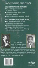 Coffret De L'Amateur De Vin Gilbert Et Gaillard ; Les Meilleurs Vins De France 2003 Degustes Et Notes - 4ème de couverture - Format classique