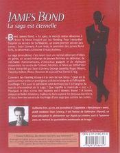 James Bond ; la saga est eternelle - 4ème de couverture - Format classique