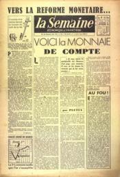 Semaine (La) N°173 du 10/09/1948 - Couverture - Format classique