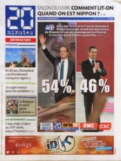 20 Minutes N°2223 du 15/03/2012 - Couverture - Format classique