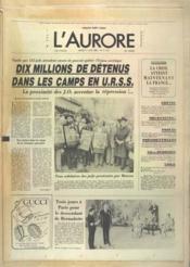 Aurore (L') N°11118 du 17/06/1980 - Couverture - Format classique