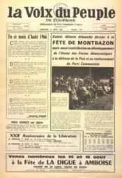 Voix Du Peuple De Touraine (La) N°1307 du 14/08/1966 - Couverture - Format classique